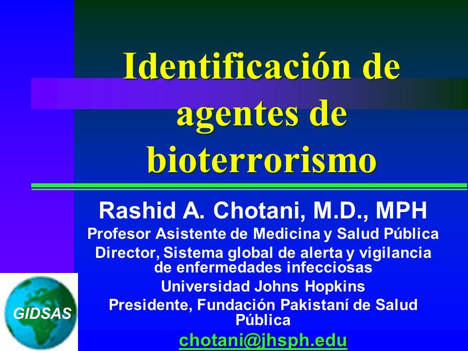 Identificación de agentes de bioterrorismo