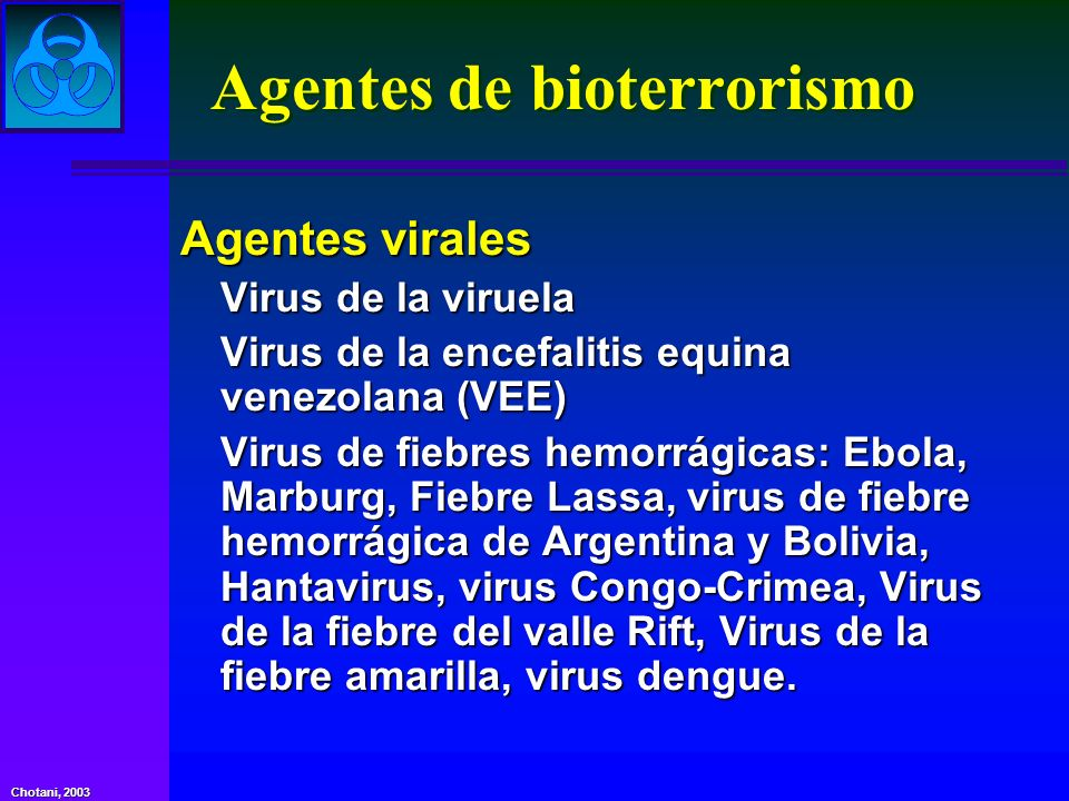 Agentes de bioterrorismo