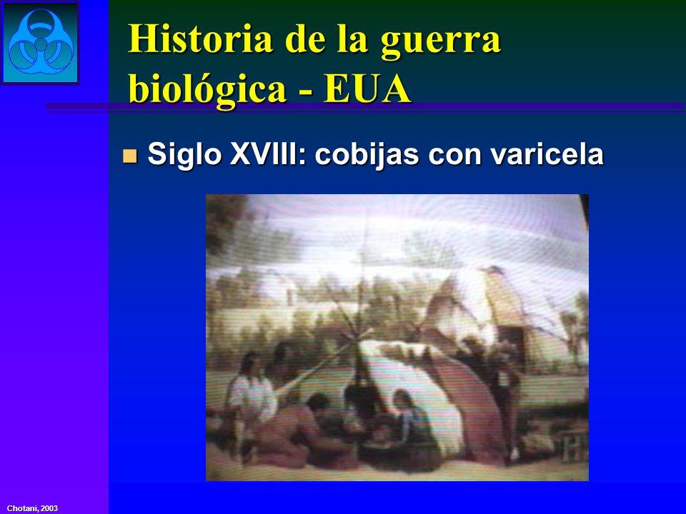 Historia de la guerra biológica - EUA