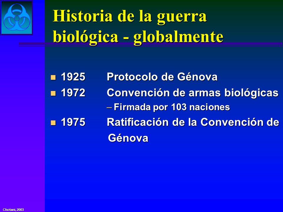 Historia de la guerra biológica - globalmente