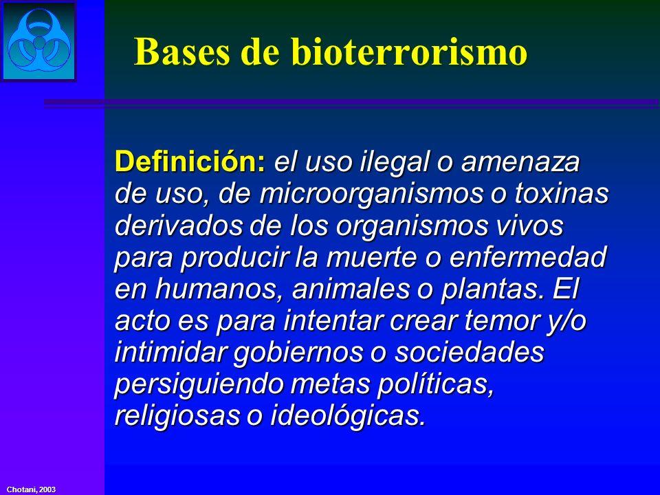 Bases de bioterrorismo
