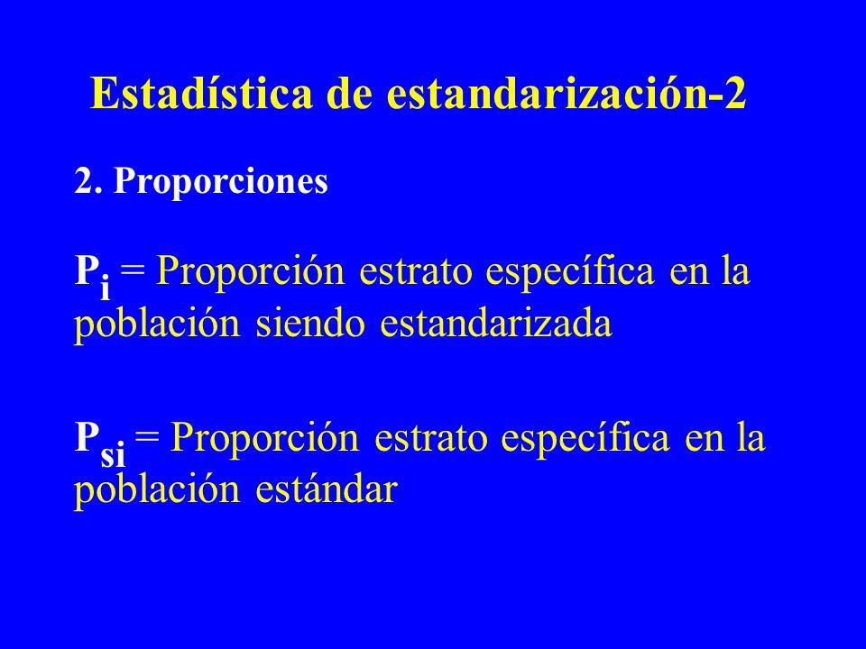 Estadística de estandarización-2