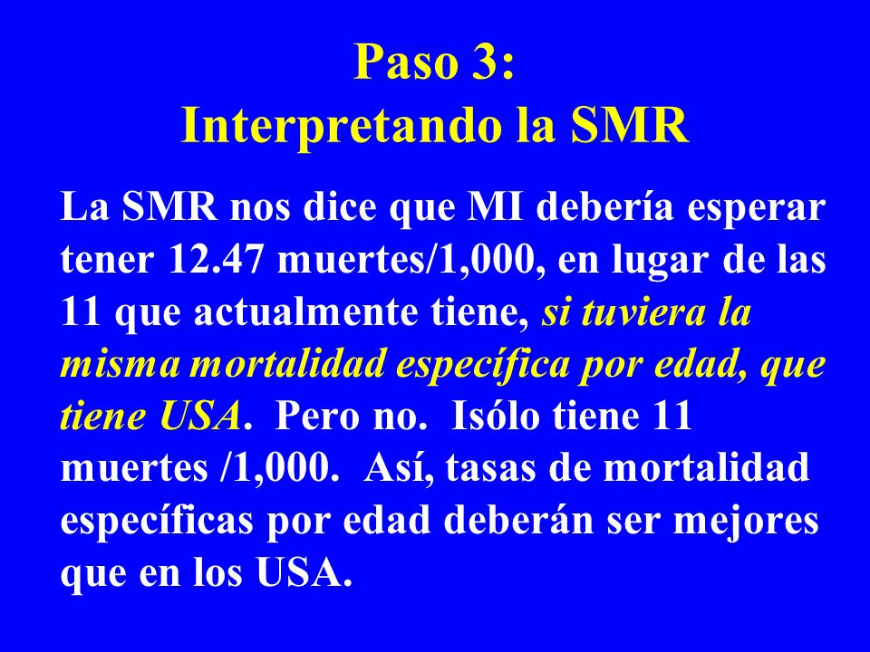 Paso 3: Interpretando la SMR