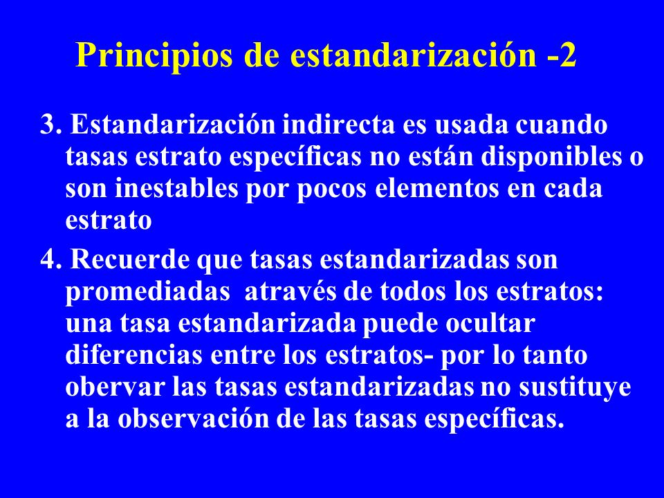 Principios de estandarización -2
