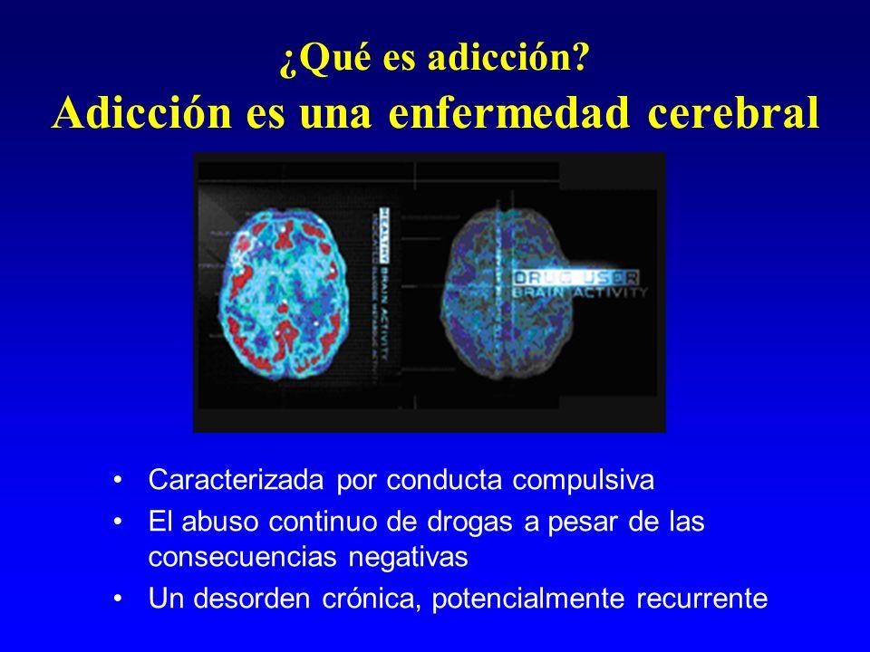 ¿Qué es adicción Adicción es una enfermedad cerebral