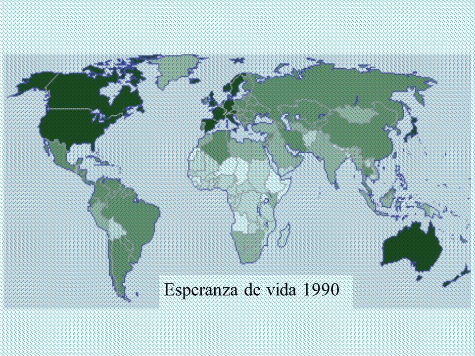 Esperanza de vida 1990