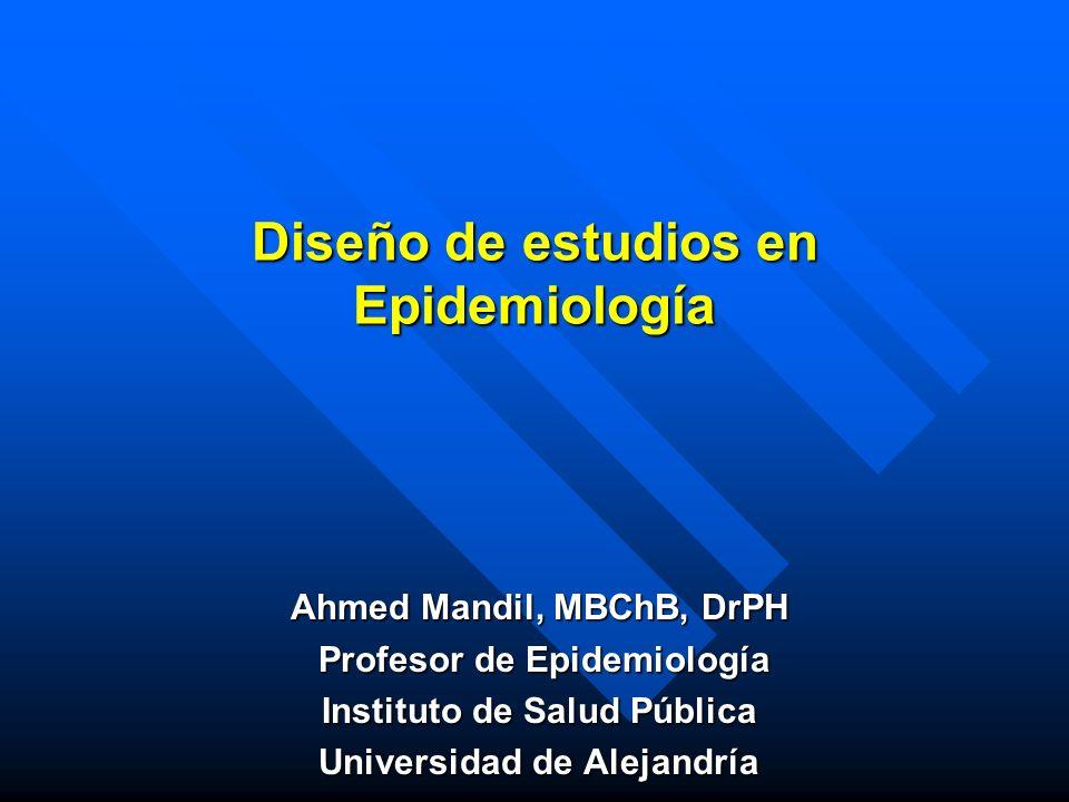Diseño de estudios en Epidemiología