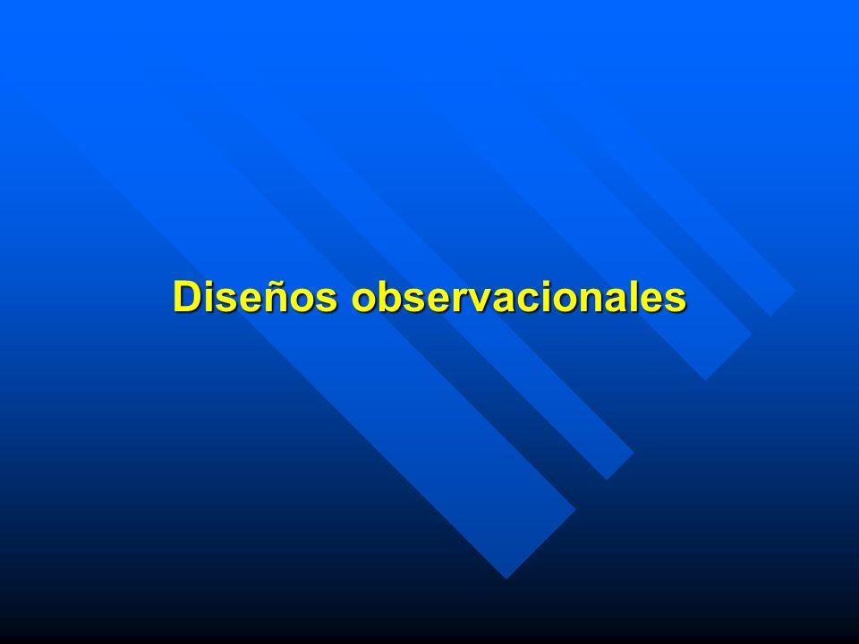 Diseños observacionales