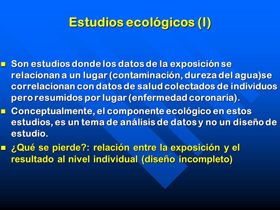 Estudios ecológicos (I)