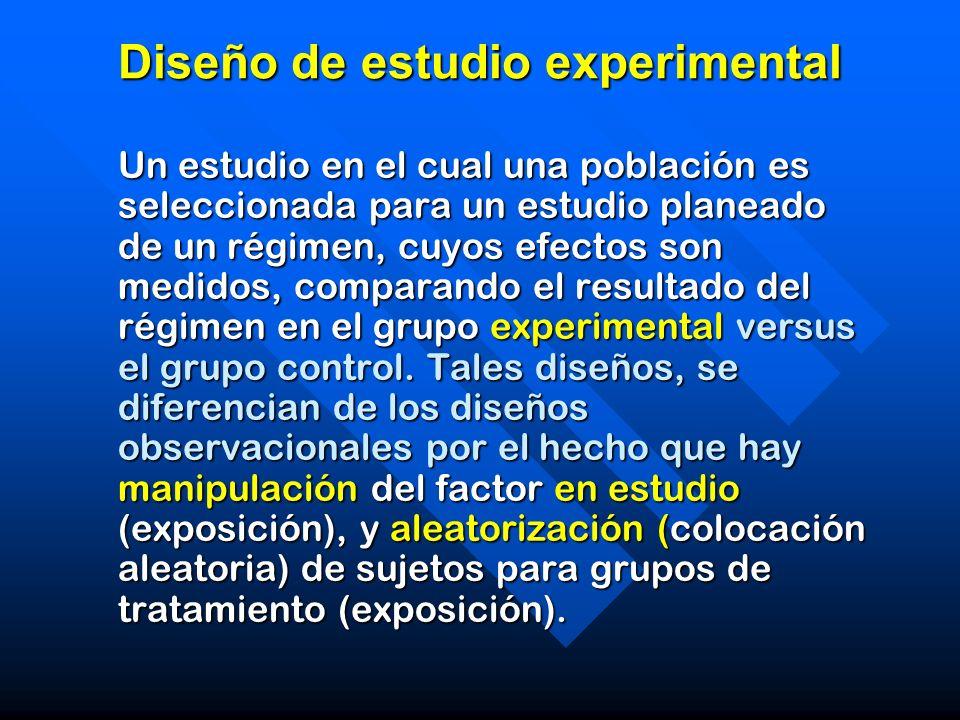 Diseño de estudio experimental