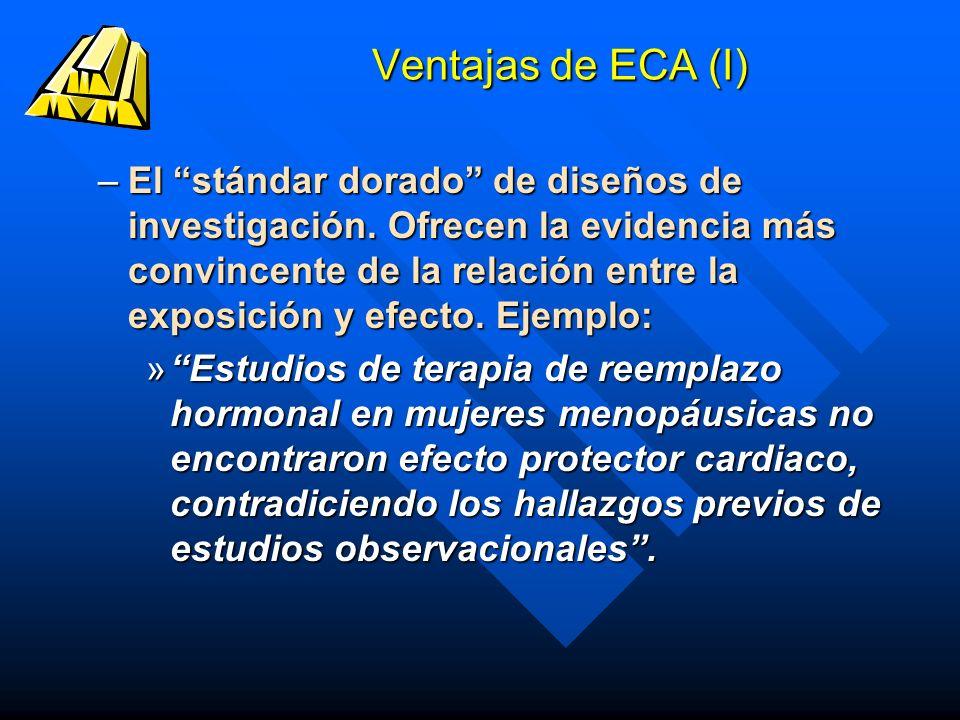 Ventajas de ECA (I)