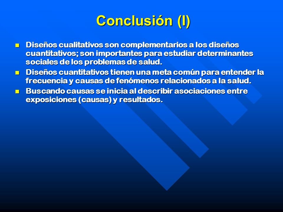 Conclusión (I)