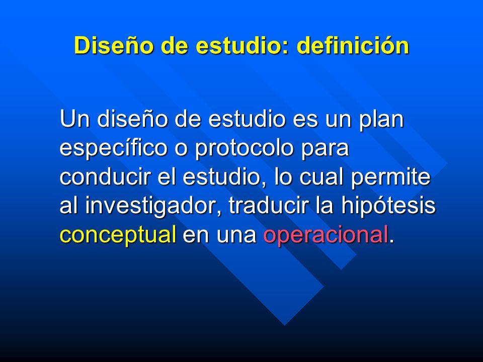 Diseño de estudio: definición