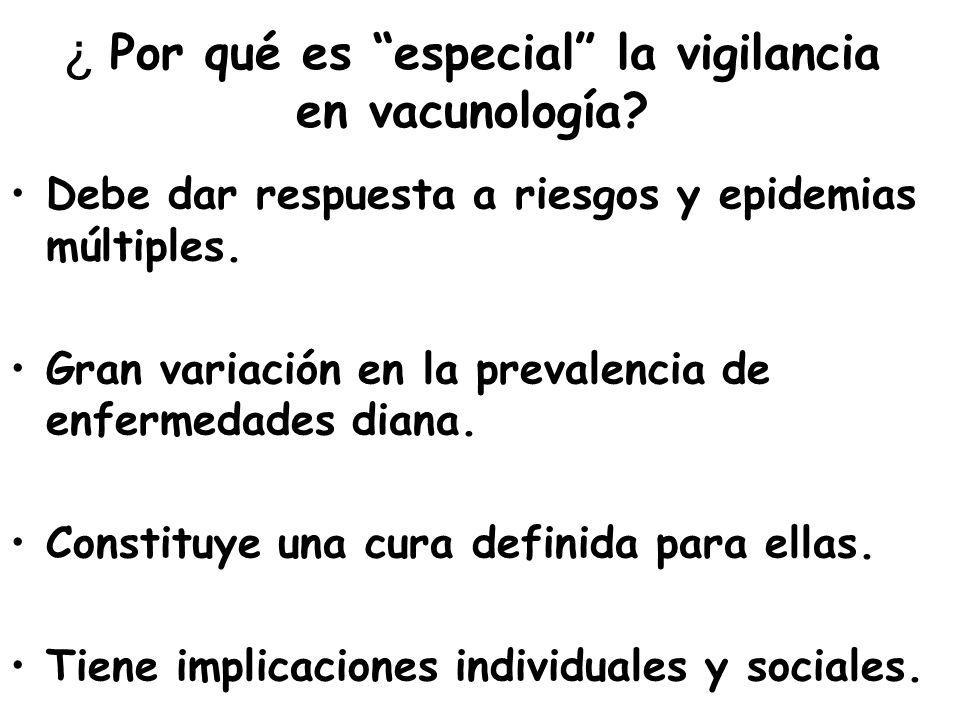 ¿ Por qué es especial la vigilancia en vacunología