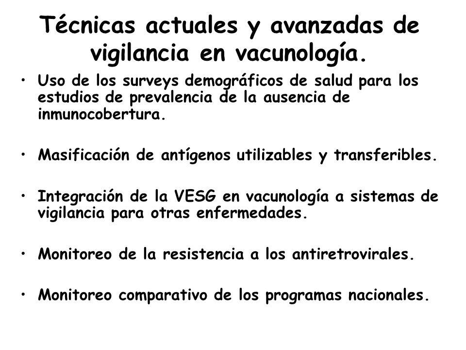 Técnicas actuales y avanzadas de vigilancia en vacunología.