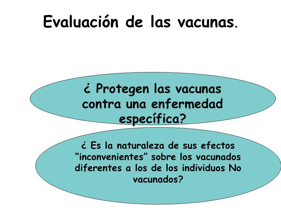 Evaluación de las vacunas.