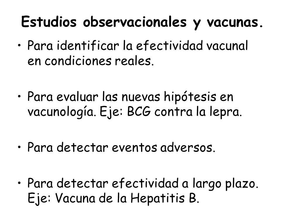 Estudios observacionales y vacunas.