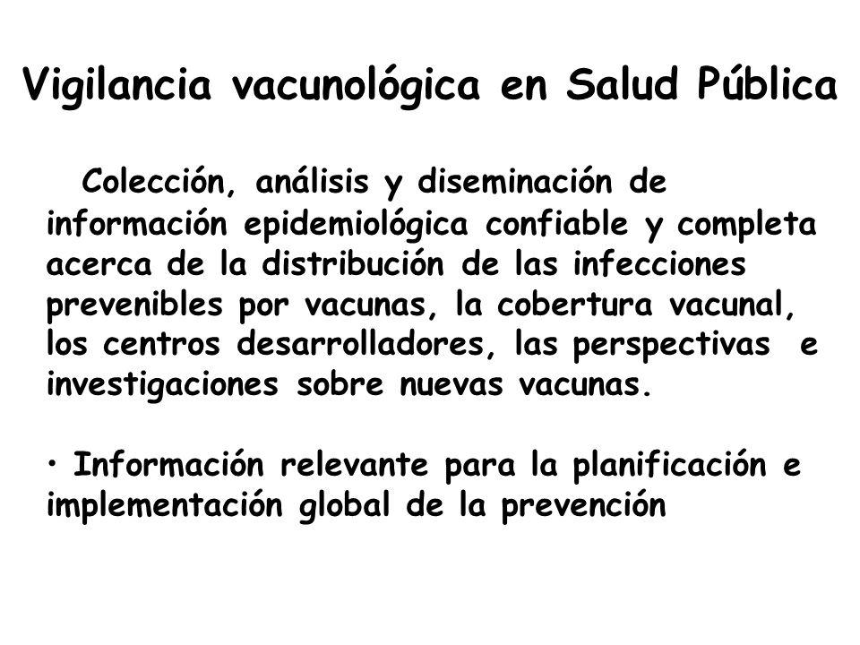 Vigilancia vacunológica en Salud Pública