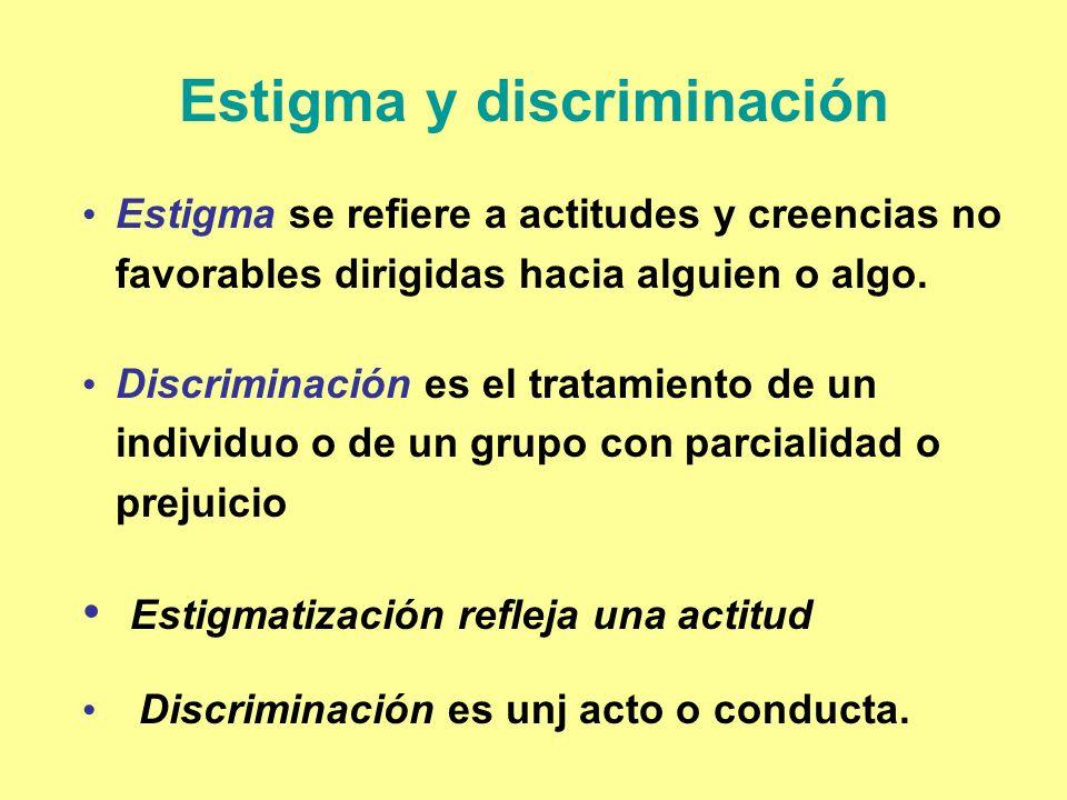 Estigma y discriminación