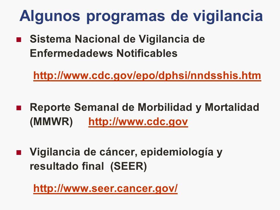 Algunos programas de vigilancia