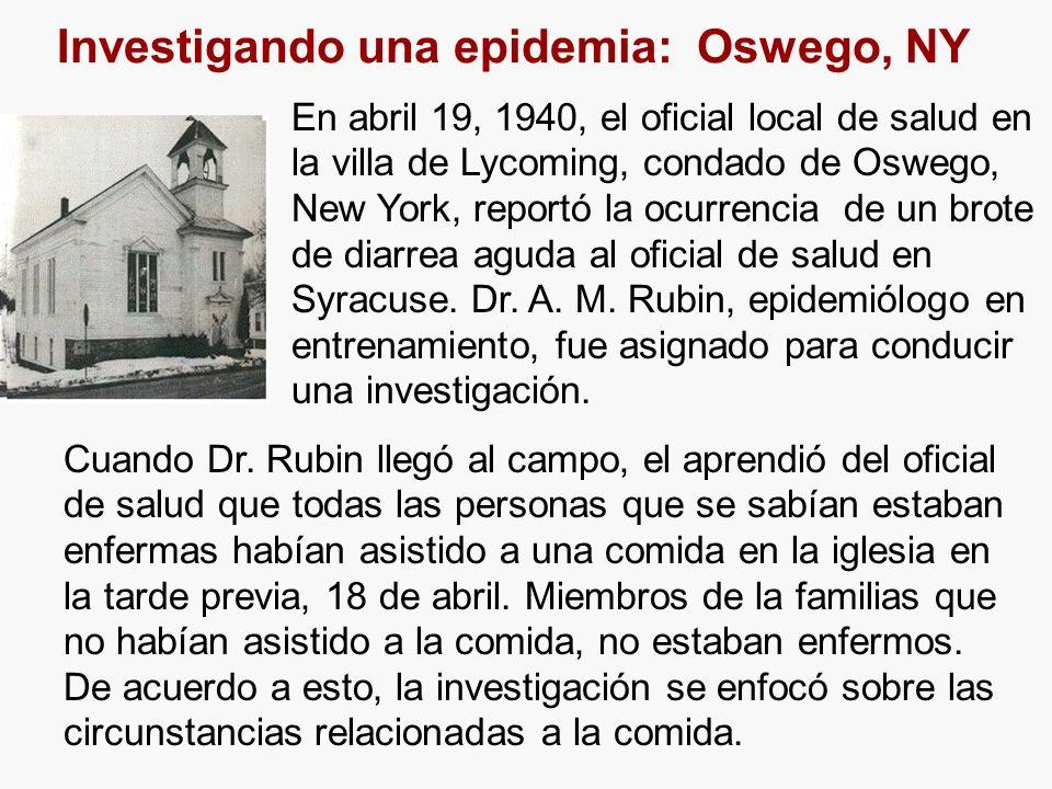 Investigando una epidemia: Oswego, NY