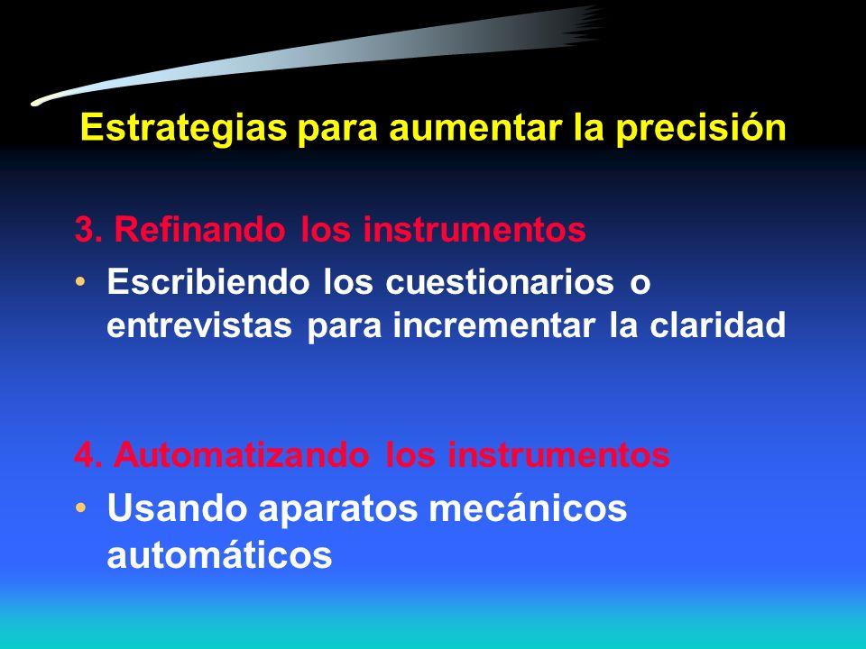 Estrategias para aumentar la precisión