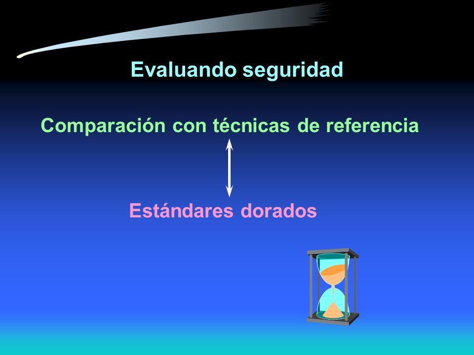 Evaluando seguridad Comparación con técnicas de referencia