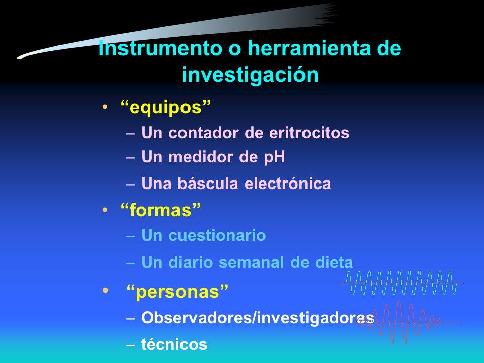 Instrumento o herramienta de investigación