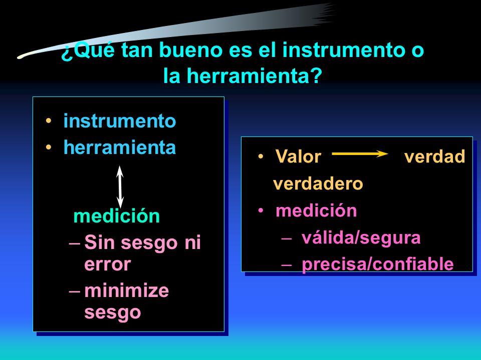 ¿Qué tan bueno es el instrumento o la herramienta