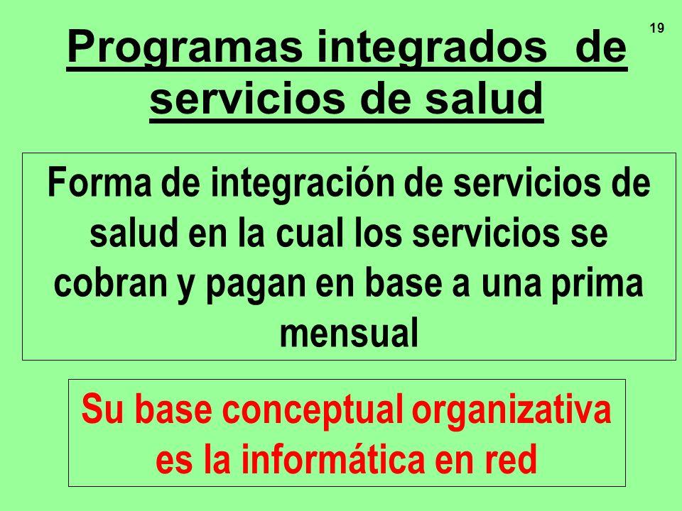 Programas integrados de servicios de salud