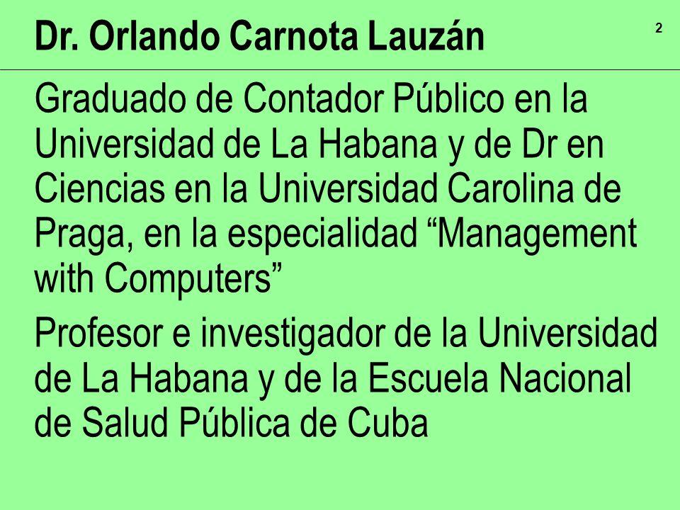 Dr. Orlando Carnota Lauzán