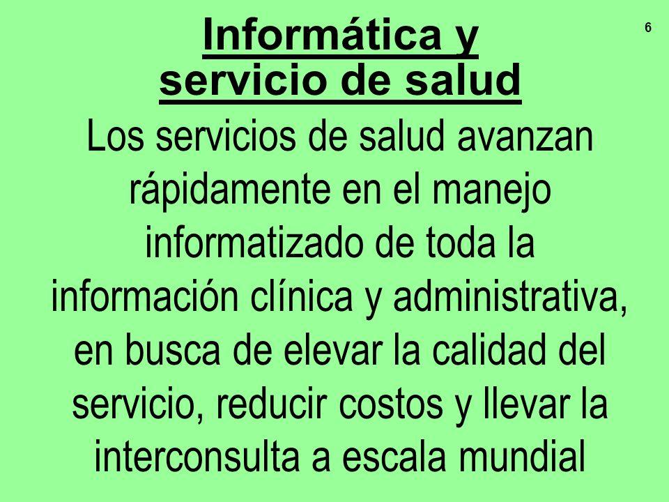 Informática y servicio de salud