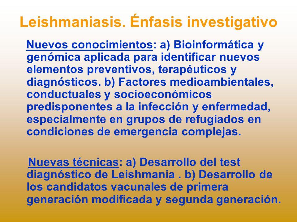 Leishmaniasis. Énfasis investigativo