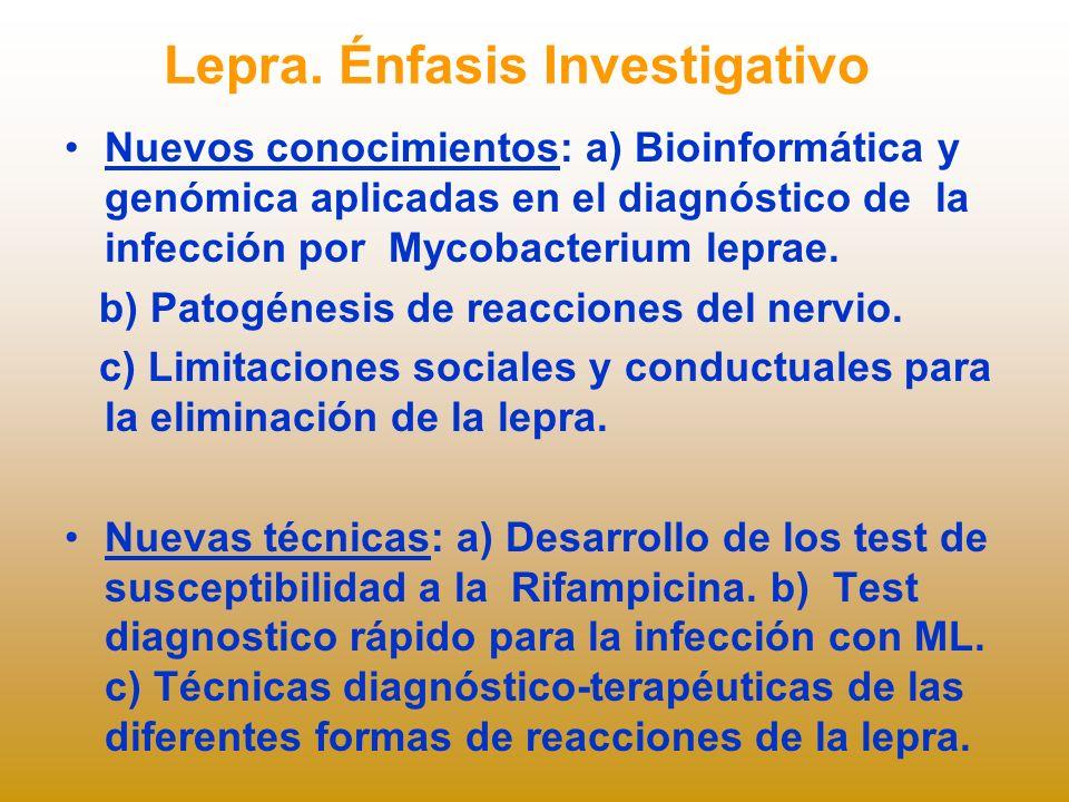 Lepra. Énfasis Investigativo