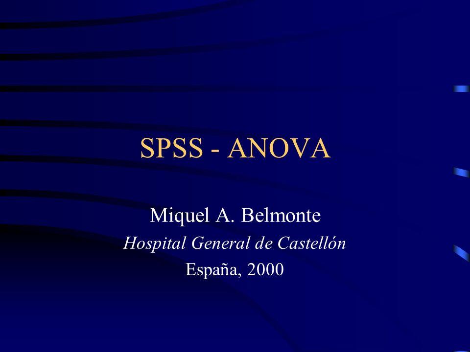 Miquel A. Belmonte Hospital General de Castellón España, 2000