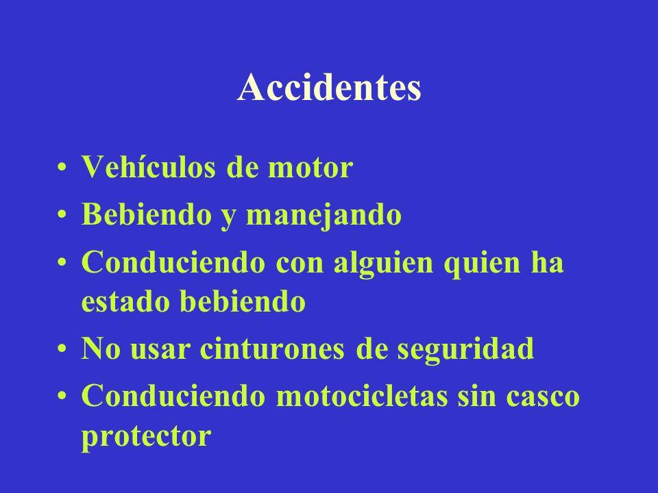 Accidentes Vehículos de motor Bebiendo y manejando