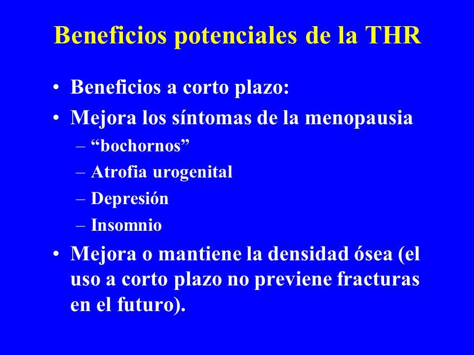 Beneficios potenciales de la THR