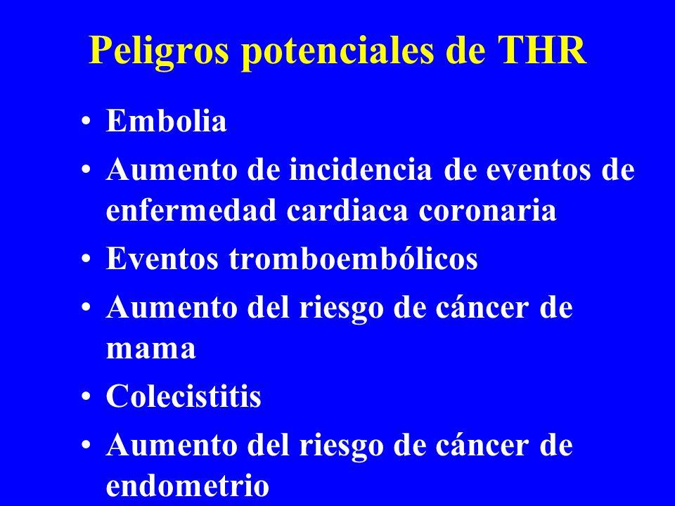 Peligros potenciales de THR