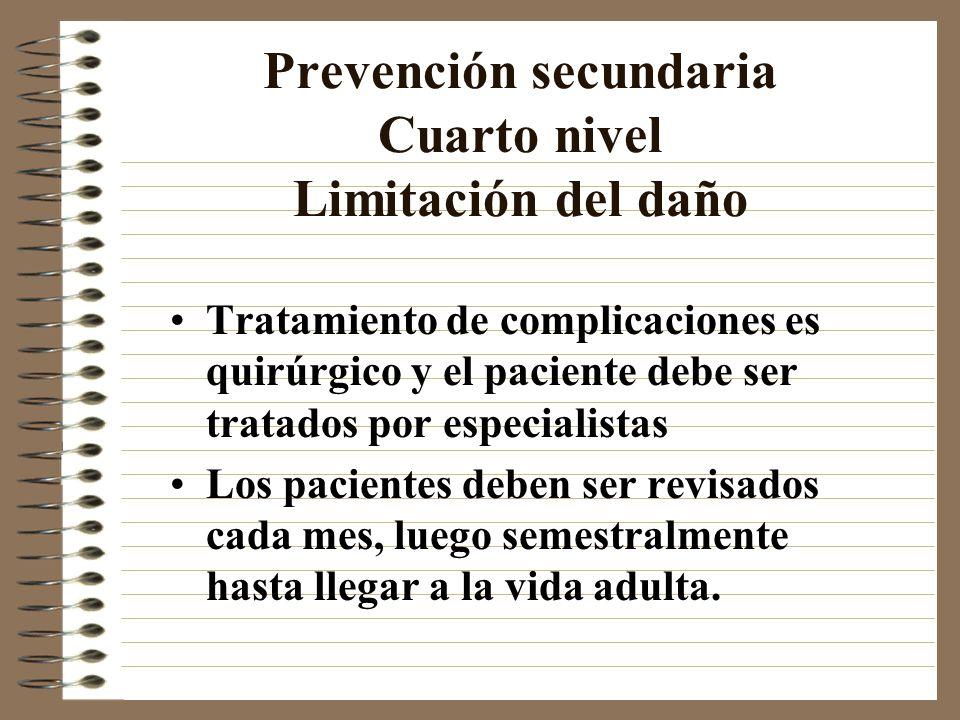Prevención secundaria Cuarto nivel Limitación del daño