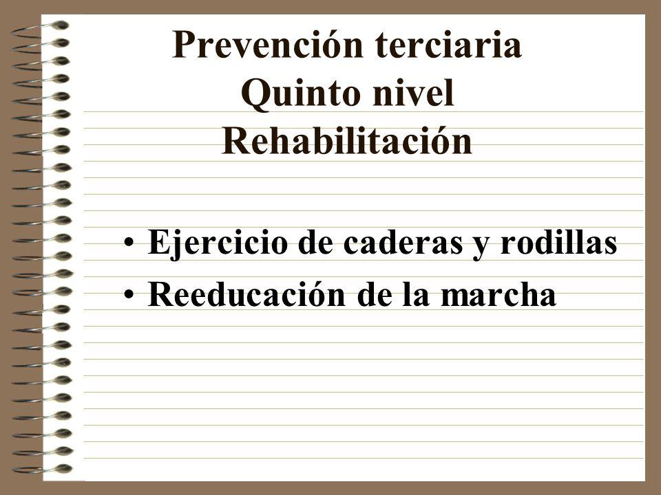 Prevención terciaria Quinto nivel Rehabilitación