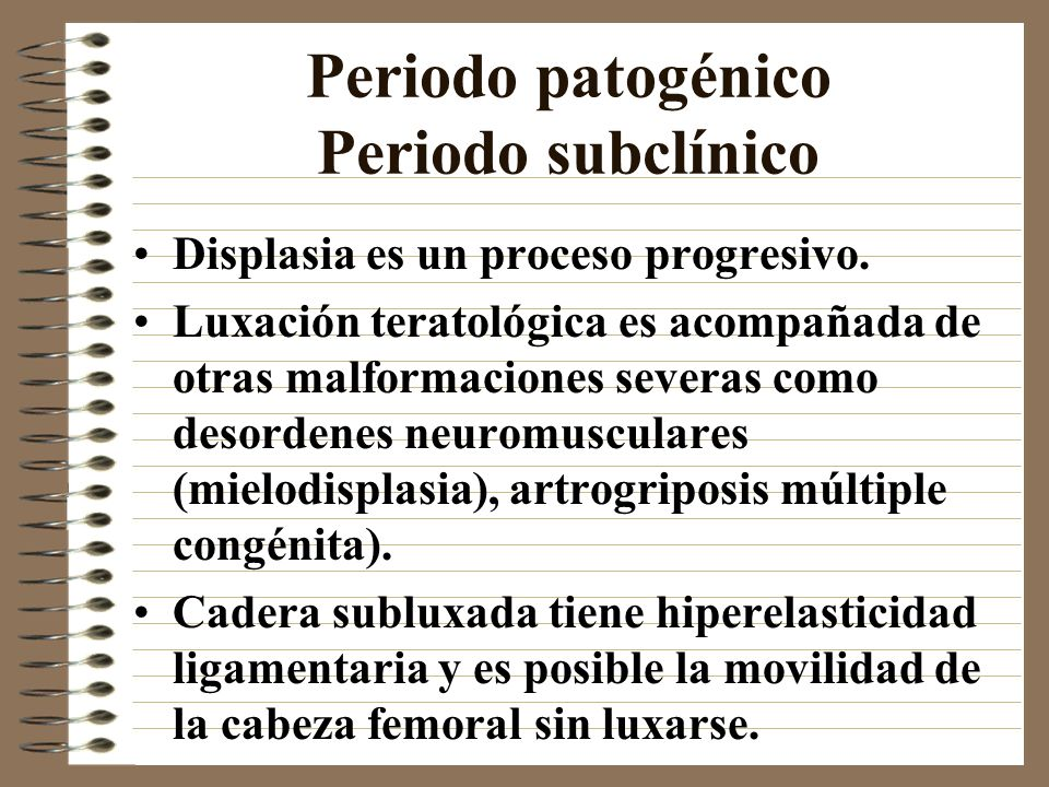 Periodo patogénico Periodo subclínico