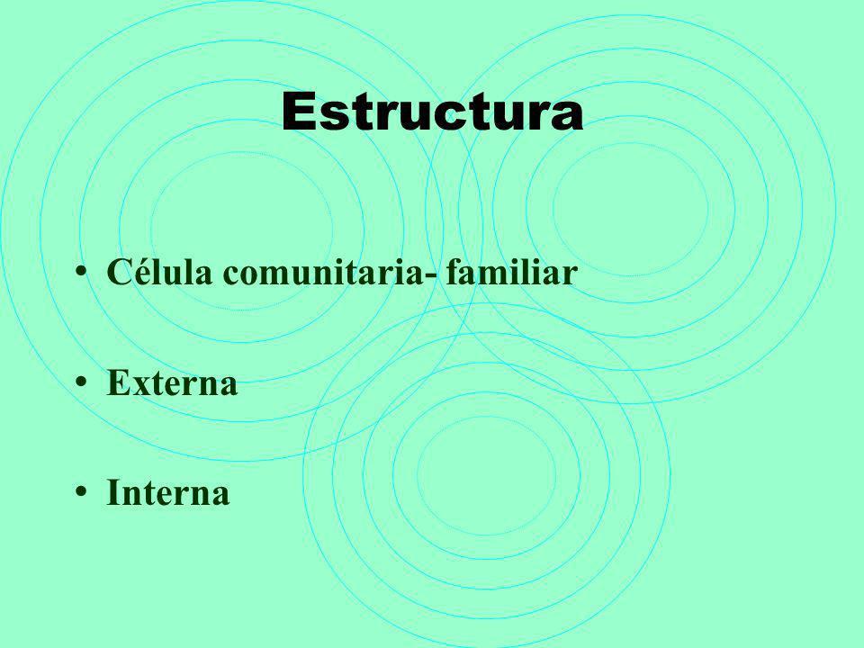 Estructura Célula comunitaria- familiar Externa Interna