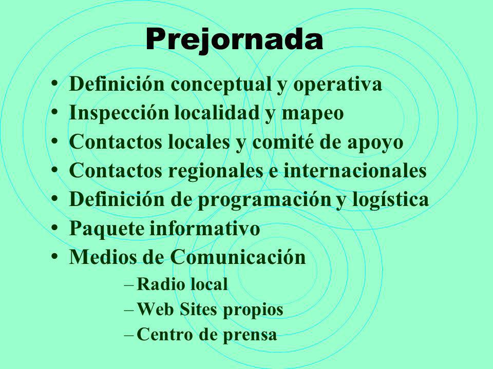 Prejornada Definición conceptual y operativa
