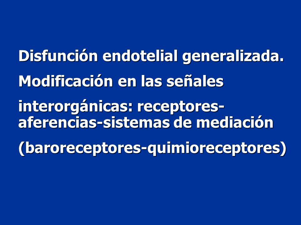 Disfunción endotelial generalizada.