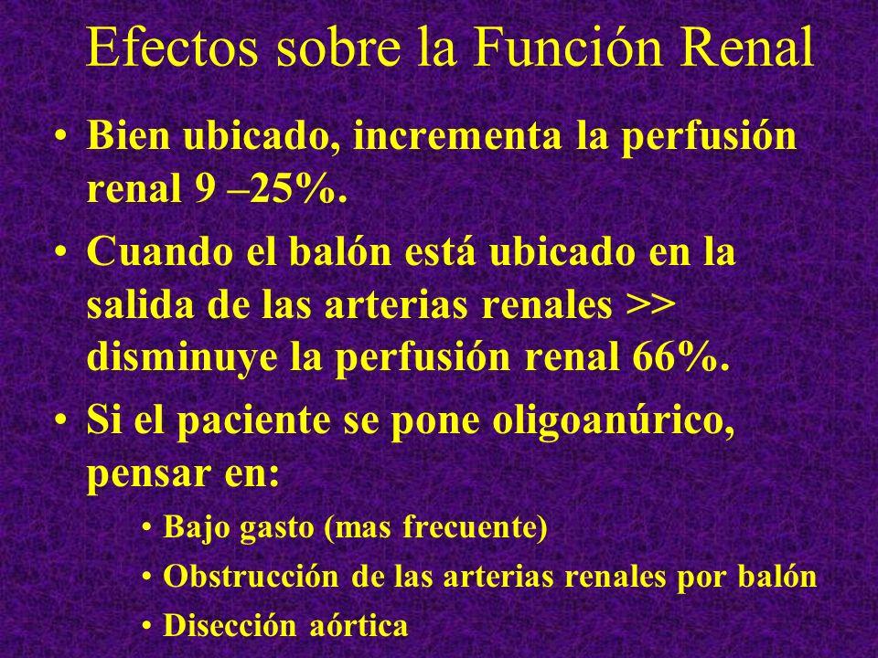 Efectos sobre la Función Renal