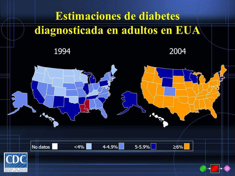 Estimaciones de diabetes diagnosticada en adultos en EUA