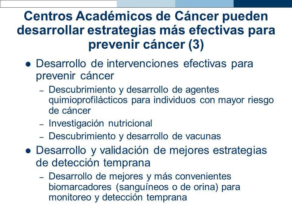 Centros Académicos de Cáncer pueden desarrollar estrategias más efectivas para prevenir cáncer (3)