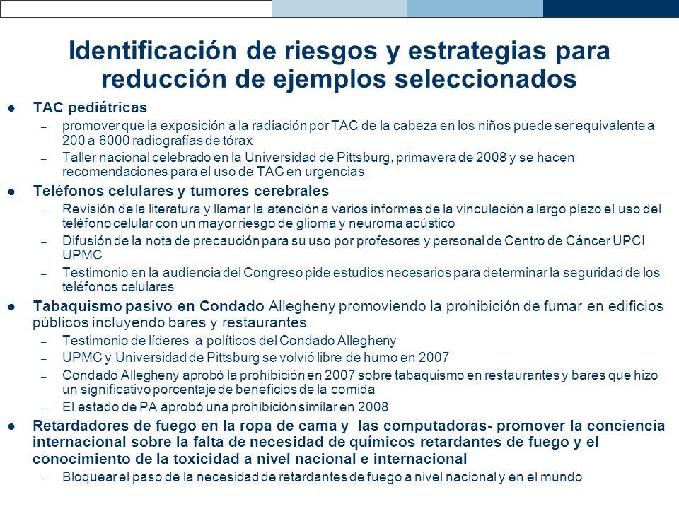 Identificación de riesgos y estrategias para reducción de ejemplos seleccionados
