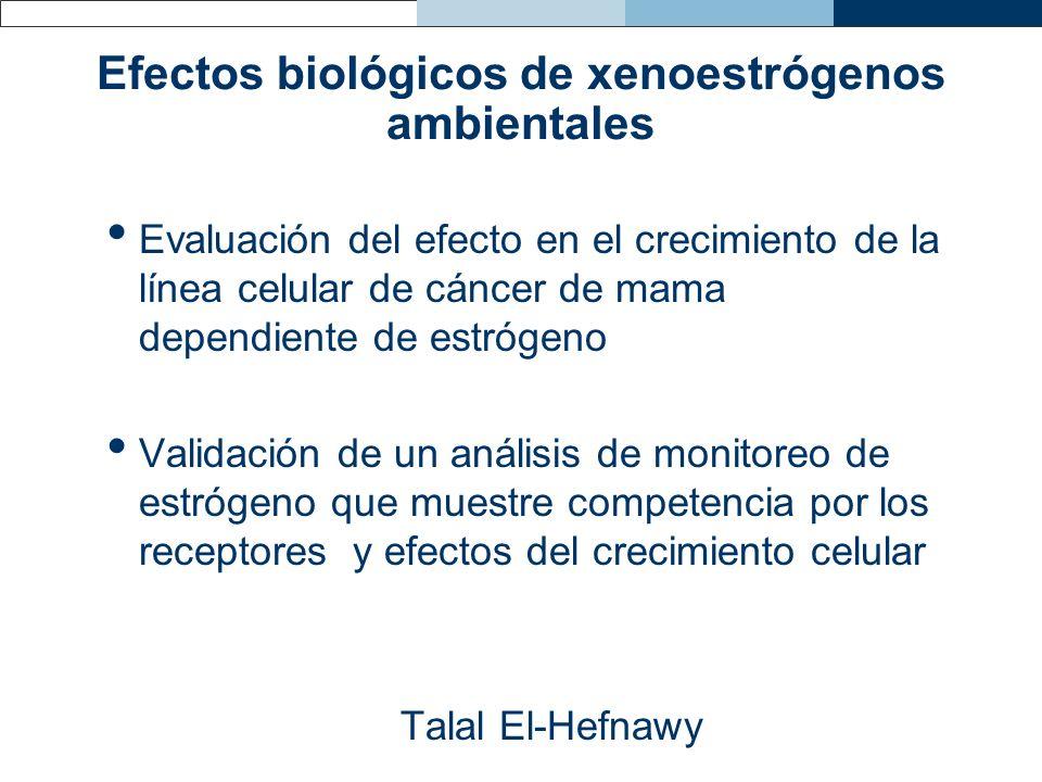 Efectos biológicos de xenoestrógenos ambientales
