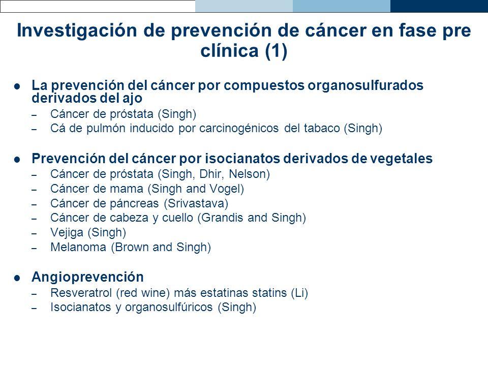 Investigación de prevención de cáncer en fase pre clínica (1)